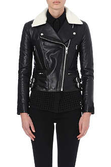 VICTORIA BECKHAM DENIM Joan leather biker jacket
