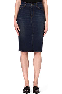 VICTORIA BECKHAM DENIM Denim pencil skirt