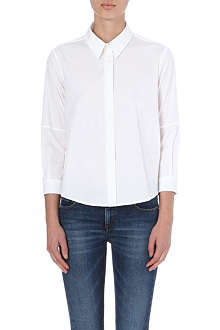 VICTORIA BECKHAM DENIM Three-quarter length sleeve cotton shirt