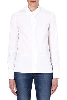 VICTORIA BECKHAM DENIM Panel-detail cotton shirt