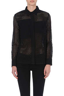 VICTORIA BECKHAM DENIM Perforated cotton shirt
