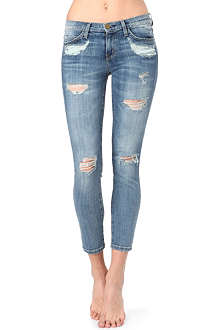 CURRENT/ELLIOTT The Stiletto shredded skinny mid-rise jeans