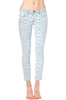 CURRENT/ELLIOTT The Stiletto skinny mid-rise printed jeans