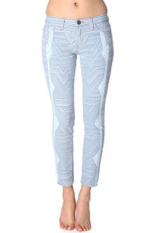 CURRENT/ELLIOTT Mary Katrantzou The Stiletto skinny jeans