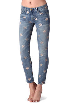 CURRENT/ELLIOTT The Stiletto skinny mid-rise star-printed jeans