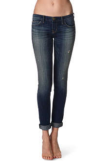 CURRENT/ELLIOTT The rolled skinny low-rise jeans