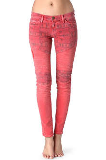 CURRENT/ELLIOTT The Moto skinny low-rise jeans