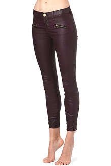 CURRENT/ELLIOTT The Soho Zip Stiletto skinny mid-rise jeans