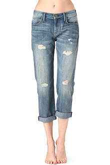 CURRENT/ELLIOTT Super Loved cropped boyfriend high-rise jeans