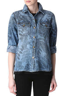 CURRENT/ELLIOTT The Perfect printed denim shirt