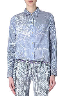 CURRENT/ELLIOTT Mary Katrantzou cotton shirt