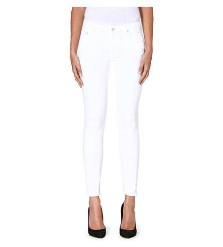 ACNE STUDIOS Skin 5 skinny mid-rise jeans (Optic white