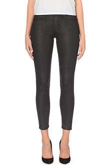 ACNE Skin 5 coated skinny mid-rise jeans