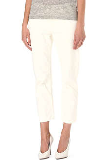 ACNE Pop paint-splatter straight-leg high-rise jeans