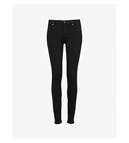 CITIZENS OF HUMANITY Avedon ultra-skinny mid-rise jeans (Black