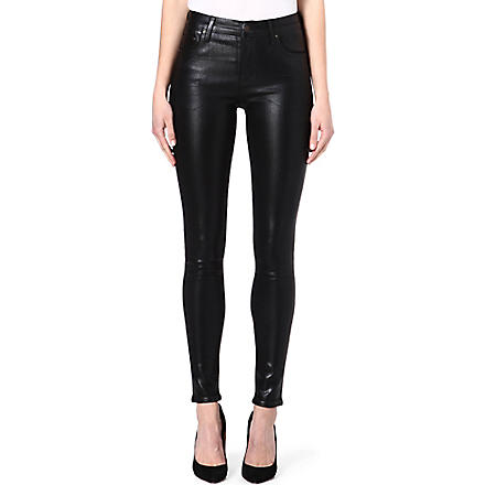 CITIZENS OF HUMANITY Coated skinny high-rise jeans (Black