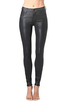 CITIZENS OF HUMANITY Rocket waxed skinny high-rise jeans
