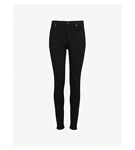 CITIZENS OF HUMANITY Rocket high-rise skinny jeans (All+black