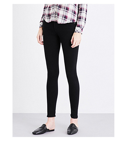 CITIZENS OF HUMANITY Rocket mid-rise skinny jeans (All+black