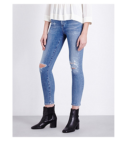 CITIZENS OF HUMANITY Rocket cropped skinny high-rise jeans (Distressed+fizzle