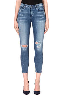 CITIZENS OF HUMANITY Rocket distressd cropped skinny high-rise jeans