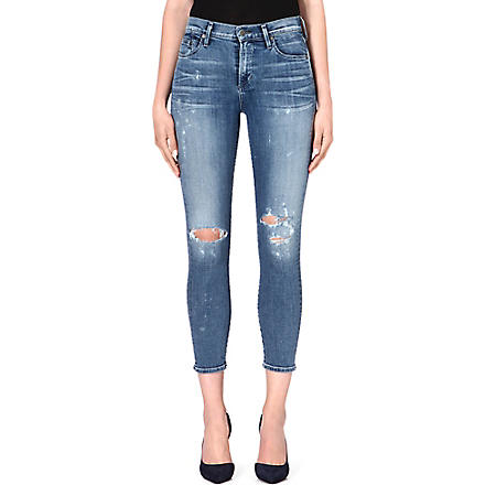 CITIZENS OF HUMANITY Rocket distressd cropped skinny high-rise jeans (Fizzle