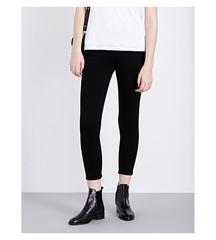 CITIZENS OF HUMANITY Rocket skinny cropped high-rise jeans (All+black