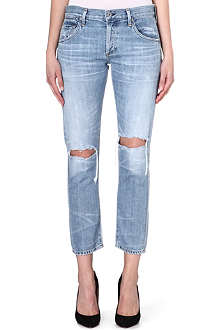 CITIZENS OF HUMANITY Emerson boyfriend mid-rise cropped jeans