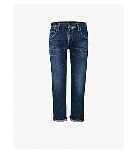 CITIZENS OF HUMANITY Emerson slim-fit boyfriend mid-rise jeans (Blue+ridge