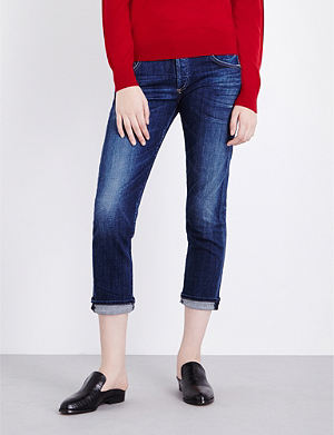 CITIZENS OF HUMANITY Emerson cropped boyfriend low-rise jeans