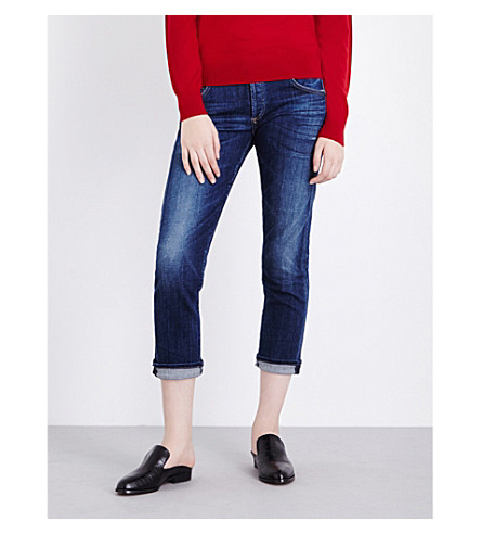 CITIZENS OF HUMANITY Emerson cropped boyfriend low-rise jeans (Blue+ridge