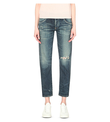 CITIZENS OF HUMANITY Emerson slim-fit boyfriend mid-rise jeans (Madera+dark