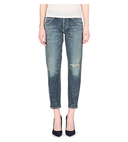 CITIZENS OF HUMANITY Emerson slim-fit boyfriend mid-rise jeans (Madera+drk