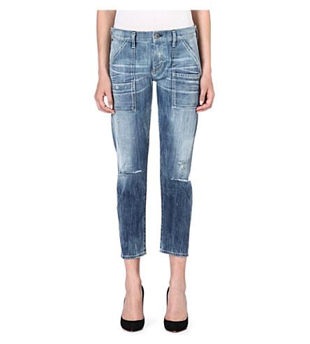 CITIZENS OF HUMANITY Stretch-denim Leah jeans (Sunbleach
