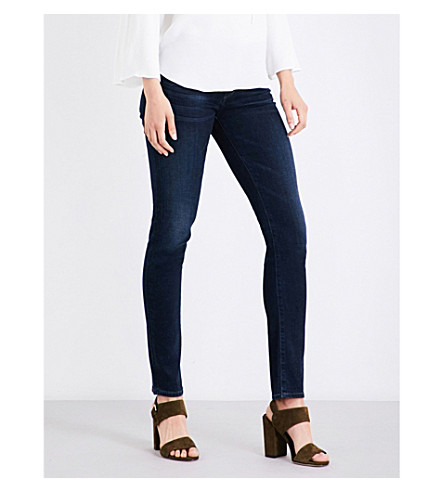 CITIZENS OF HUMANITY Arielle slim-fit mid-rise skinny jeans (Midnight+blue