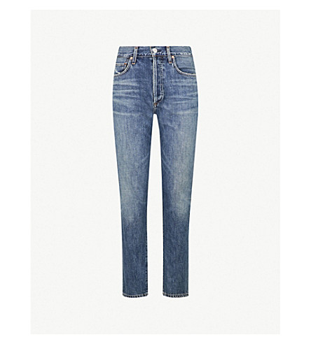 CITIZENS OF HUMANITY Liya high-rise faded boyfriend jeans (Forever