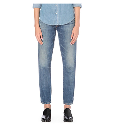 CITIZENS OF HUMANITY Liya slim-fit boyfriend low-rise jeans (Fade+out