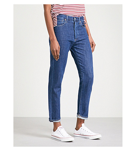 CITIZENS OF HUMANITY Liya straight high-rise jeans (French+blue