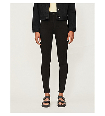 CITIZENS OF HUMANITY Chrissy skinny high-rise jeans (All+black