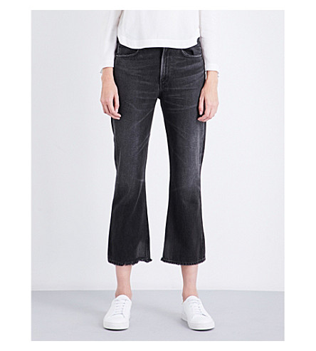 CITIZENS OF HUMANITY Estella straight flared high-rise jeans (Black+moon