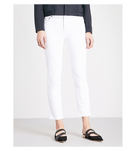 CITIZENS OF HUMANITY Cara cigarette skinny high-rise jeans (Optic+white