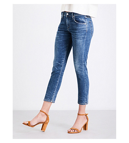 CITIZENS OF HUMANITY Elsa slim tapered mid-rise jeans (Dossier