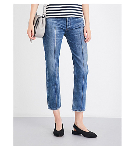 CITIZENS OF HUMANITY Gia slim-fit cropped high-rise jeans (Restless