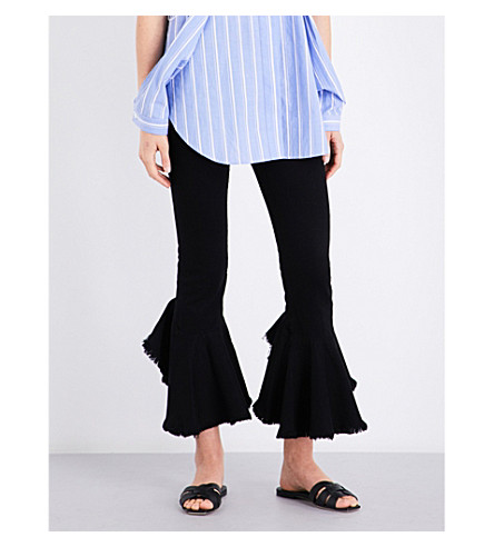 CITIZENS OF HUMANITY Drew Flounce ruffled high-rise cropped jeans (Soiree
