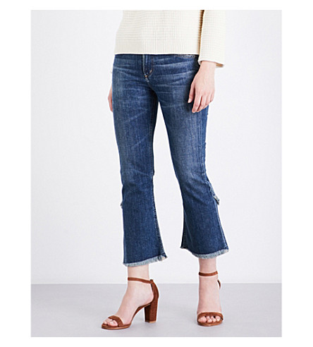 CITIZENS OF HUMANITY Drew frayed-hem flared high-rise jeans (Alterra