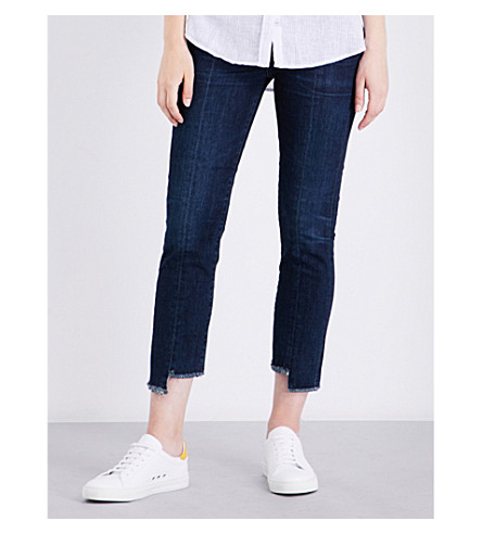 CITIZENS OF HUMANITY Amari stepped-hem skinny high-rise jeans (Maya