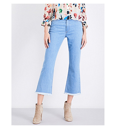 CITIZENS OF HUMANITY Estella frayed-hem flared cropped high-rise jeans (Day+trip