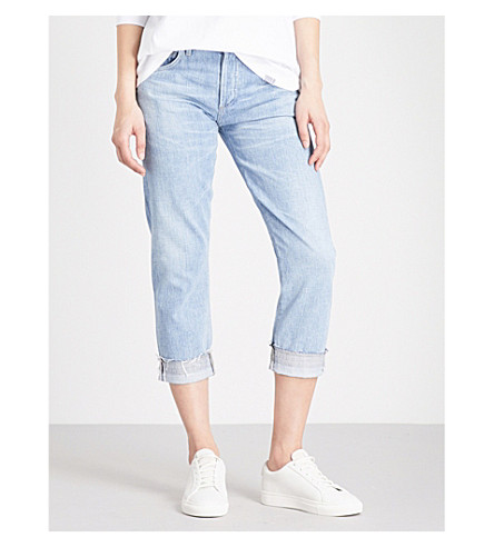 CITIZENS OF HUMANITY Emmerson slim boyfriend-fit mid-rise jeans (Capri