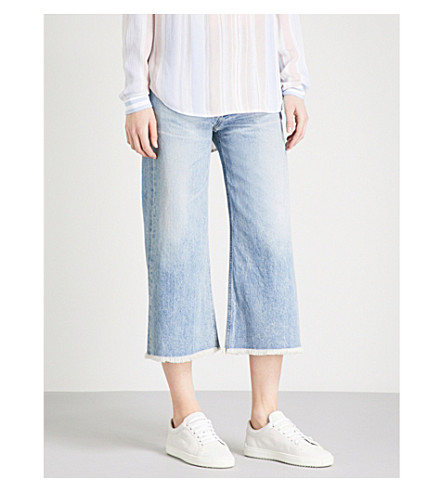 CITIZENS OF HUMANITY Emma cropped wide-leg high-rise jeans (Stax