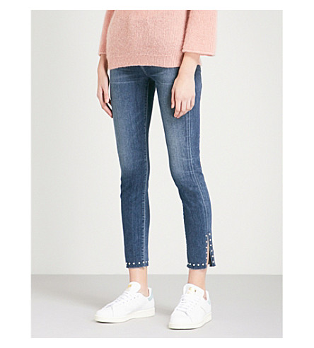 CITIZENS OF HUMANITY Rocket stud-embellished skinny cropped high-rise jeans (Ventana